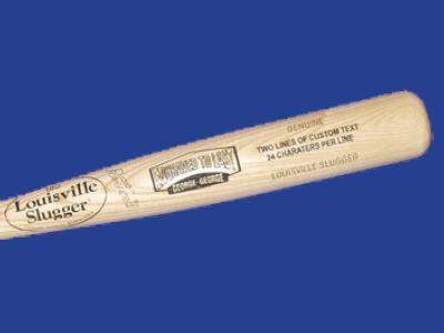 Loisville Slugger engraved bats