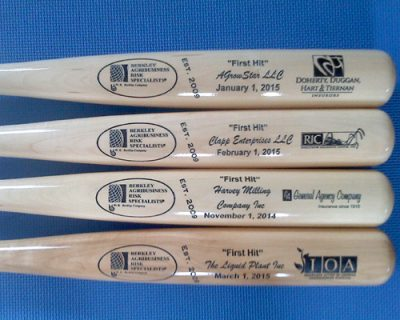 maple engraved bats