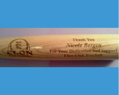 team award engraved bats
