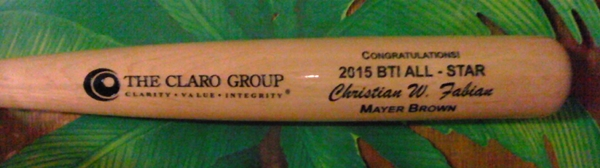 Sports Team custom bat engraving