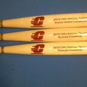 custom engraved bats athletic team awards