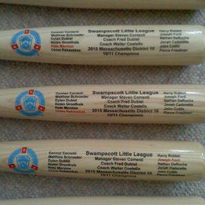 little league bat engraving