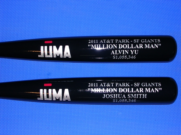 custom engraved bats Event awards