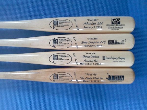 custom engraved bats corporate awards