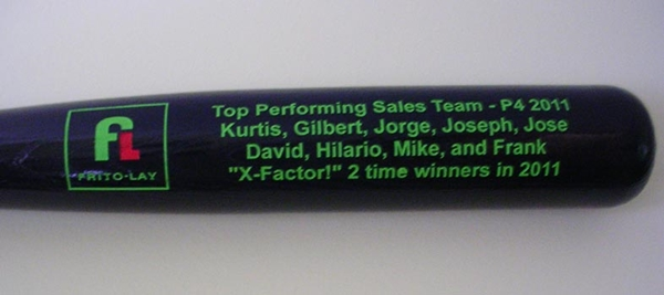 Corporate Bat Engraving