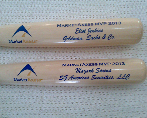 corporate engraved bats