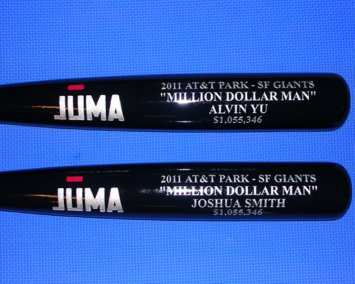 special occasion custom engraved bats